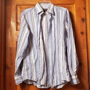 Mans Nice striped button up shirt